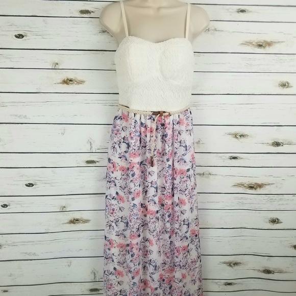 Lily Rose Dresses & Skirts - Lily Rose Floral Halter Top Dress Medium Pink Blue